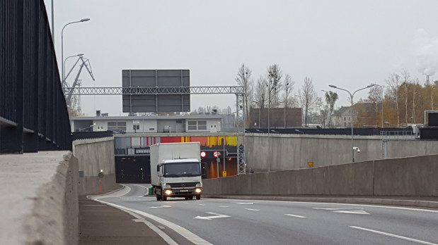 Ogrzewanie miało się pojawić na łącznicy wyjazdowej z tunelu na rondo przy Marynarki Polskiej.
