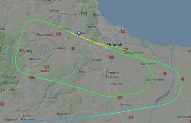 Samolot Lufthansy krążył w niedzielę wieczorem nad gdańskim lotniskiem.