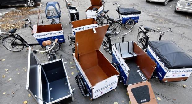 Rowery towarowe będą dostępne dla przedsiębiorców od piątku.