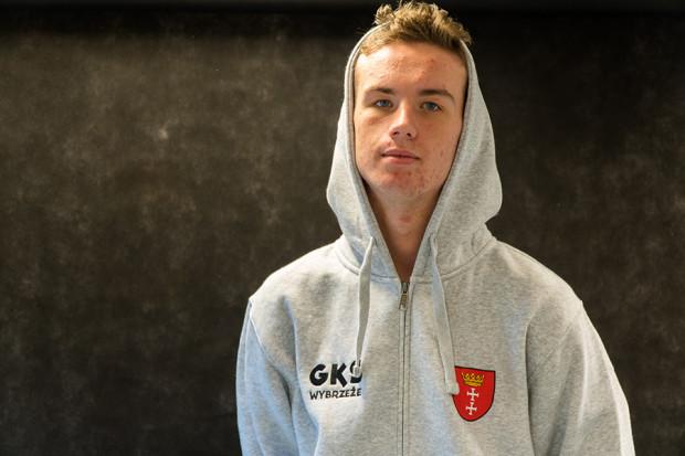 Joel Kling już w stroju gdańskiego klubu.
