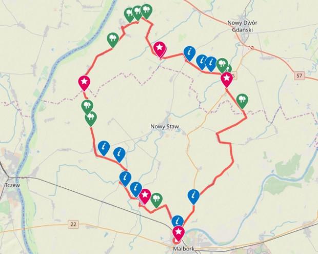 Kliknij na mapę i przejrzyj trasę / ściągnij ślad GPS