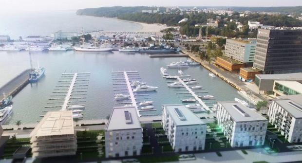 Marina w ramach osiedla Yacht Park w Gdyni.