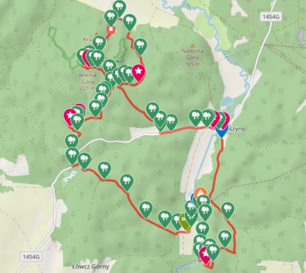 Kliknij na mapę i zobacz dokładny przebieg trasy