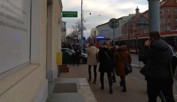 Ewakuacja sądu rozpoczęła się około godz. 10.