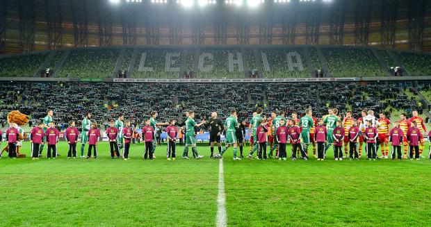 Po raz ostatni w ćwierćfinale Pucharu Polski Lechia grała 25 marca 2014 i zarazem był to jej ostatni mecz w Gdańsku w tych rozgrywkach. Na zdjęciu prezentacja z tamtego wydarzenia.