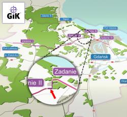 Błąd w wizualizacji dostępnej na stronie miejskiej spółki GIK. Ul. Nowa Kościuszki narysowana jest jako droga istniejąca, tak jak choćby al. Hallera.