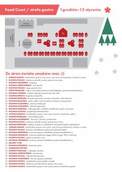 Mapa stoisk gastronomicznych na Jarmarku Bożonarodzeniowym
