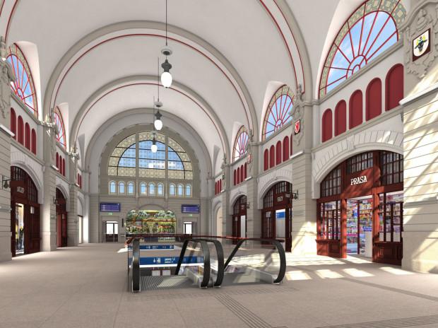 Wygląd hali głównej dworca po remoncie