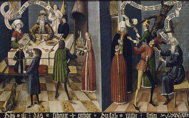 Sceny uwiecznione na Tablicy Dziesięciorga Przykazań w bazylice Mariackiej w Gdańsku są bogatym źródłem wiedzy o obyczajowości gdańszczan pod koniec XV wieku.