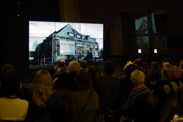Tymczasowa siedziba Nowego Muzeum Sztuki NOMUS przy ul. Jaracza 14 wciąż jest w remoncie. Konkretów w sprawie docelowej siedziby brak.