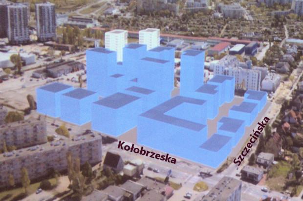 Wizualizacja potencjalnej formy zabudowy terenu na Przymorzu Małym.