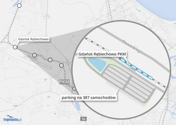 Nowy parking przy PKM Gdańsk Rębiechowo ma być oddany do użytku w połowie stycznia.