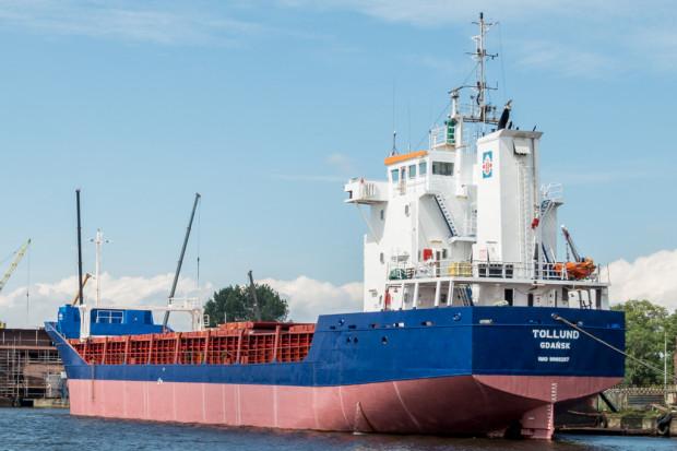 Aktualnie w narodowych barwach pływa tylko sześć jednostek. Na zdjęciu statek Tollund należący do Żeglugi Gdańskiej.