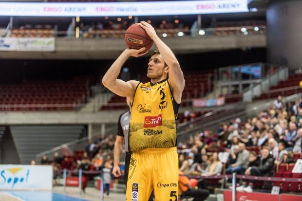Piotr Śmigielski zaliczył najlepszy mecz w sezonie, ale nie dało to Treflowi zwycięstwa nad AZS.