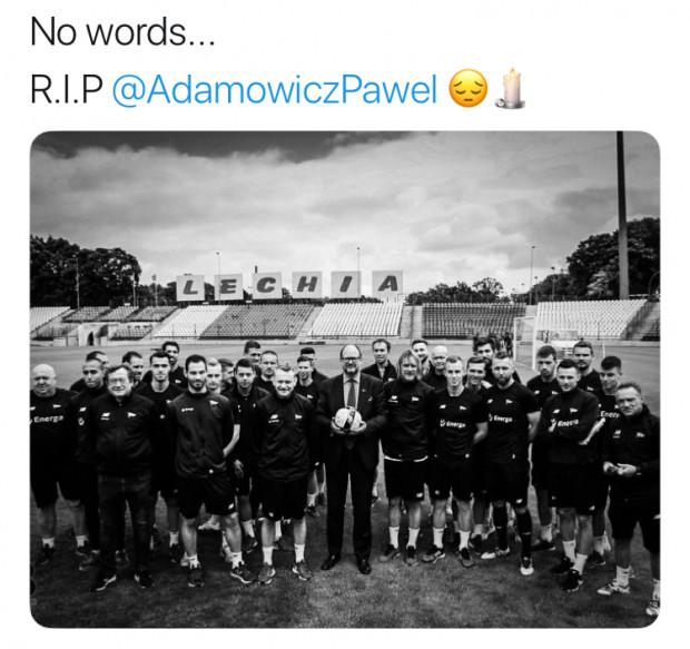 27555b482 Paweł Adamowicz wspierał nie tylko piłkarzy Lechii Gdańsk. Powyżej zrzut  ekranu z Twittera piłkarza biało