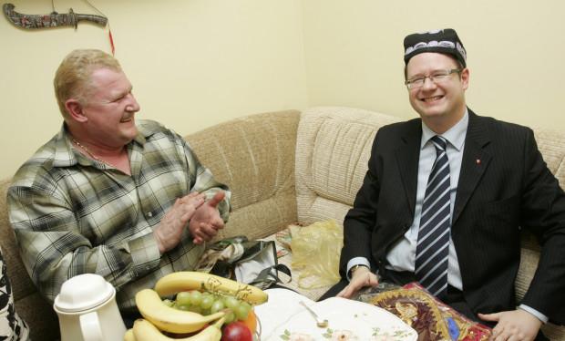 Prezydent jako gość u rodziny Kot z Uzbekistanu.