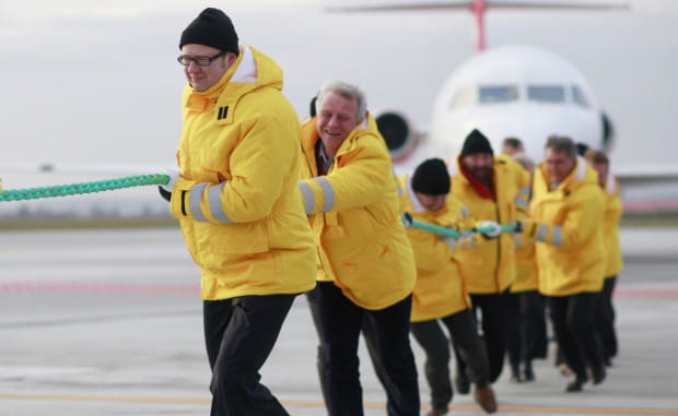 Feta z okazji zakończenia jednej z dużych inwestycji na lotnisku w Gdańsku.