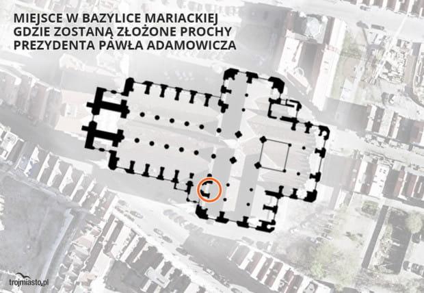 Bazylika Mariacka stała się miejscem spoczynku prochów Pawła Adamowicza.