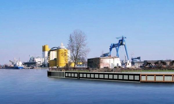 Wizualizacja gotowego nabrzeża na Polskim Haku