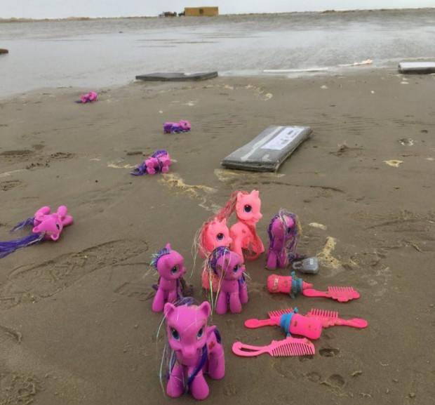 Cześć ładunku z MSC Zoe została wyrzucona na plaże Wysp Zachodniofryzyjskich.
