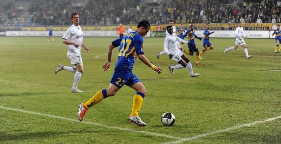 Piłkarze Arki nie mieli szans z rozpędzoną Polonią.