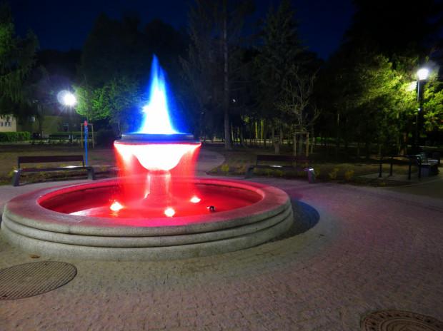 Fontanna w parku Oruńskim. Mieszkańcy chcą, by podobna instalacja stanęła w parku św. Barbary.