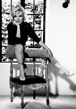 Marilyn Monroe, zdjęcie autorstwa Alana Granta zrobione podczas wywiadu dla Life Magazine w 1962 roku.