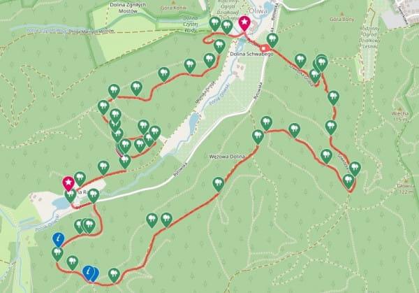 Kliknij na mapę i prześledź trasę wycieczki / ściągnij ślad GPS