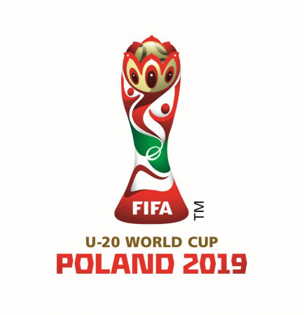 Oficjalne logo mistrzostw świata U-20 w Polsce.