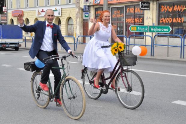 Natalia i Robert zaraz po ślubie