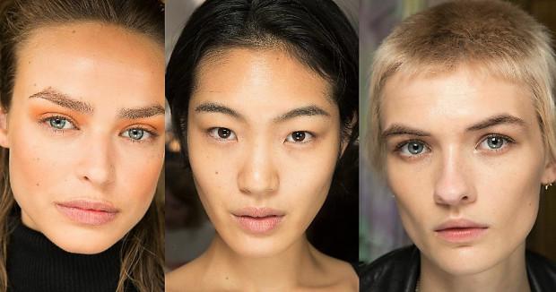 Rozświetlona, naturalna skóra na pokazach Altuzarra, Isabel Marant, Stella McCartney