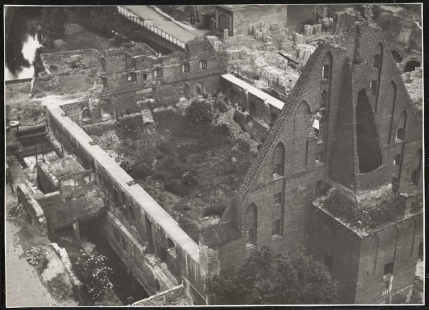 Wielki Młyn po II wojnie światowej. Zdjęcie ze zbiorów Muzeum Gdańska.