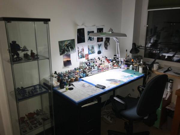 Pracownia Michała Szulhana. To tutaj powstają wszystkie jego prace.