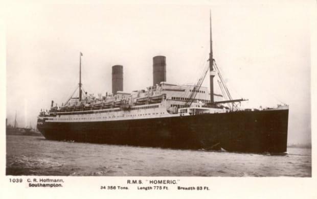 """W Gdańsku powstał jako """"Colubus"""", ale do służby na morzu wszedł jako """"Homeric"""". Pływał przez 24 lata, aż go zezłomowano w 1936 roku."""