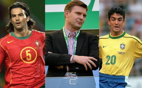 Od prawej: Bebeto, Andrzej Juskowiak, Fernando Couto. Możesz się z nimi spotkać w sobotę w Rivierze.