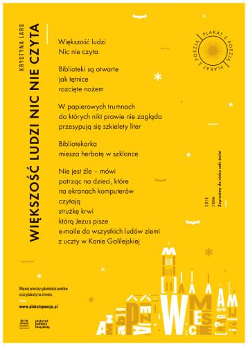 Plakaty Z Poezją Na Ulicach Gdańska Serwis Kultura