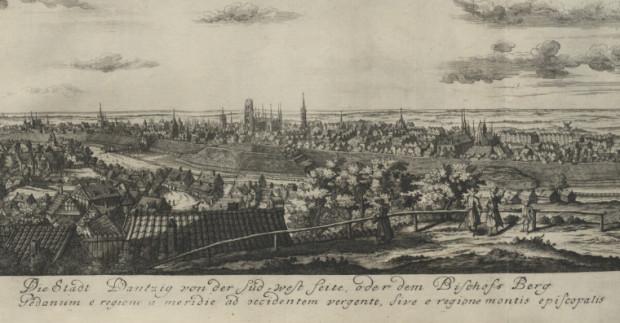 Panorama Gdańska od strony południowo zachodniej, czyli z Biskupiej Górki.