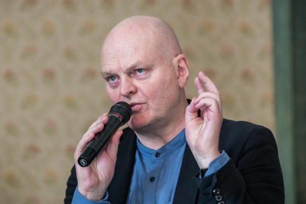"""Hallgrimur Helgason - pisarz islandzki, jeden z uczestników debaty """"Kultura czytelnicza - tkanka łącząca w demokracji?"""""""