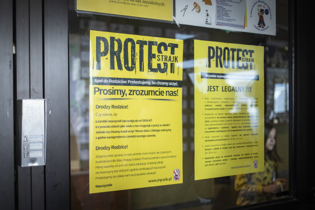 strajk w polskiej oświacie
