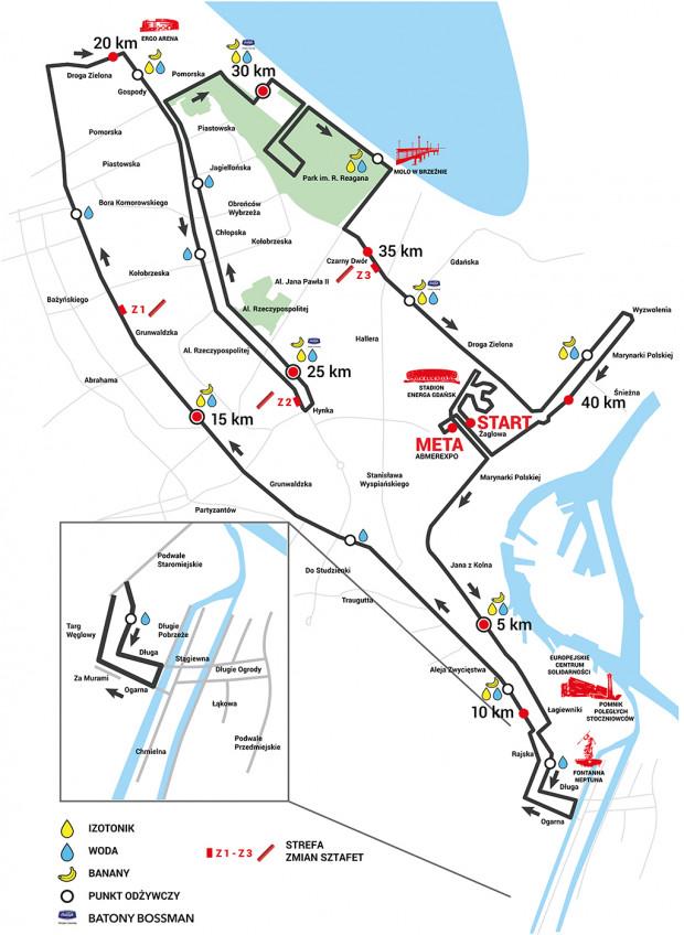 Przebieg trasy 5. Gdańsk Maratonu.