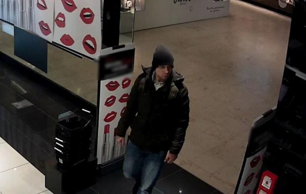 Widoczny na zdjęciu mężczyzna może mieć związek z kradzieżą perfum w jednej z galerii handlowych.