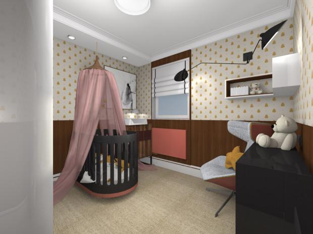 b0a18b3e901eca Druga wersja uwzględnia zmianę aranżacji w taki sposób, by pomieszczenie  stało się pokojem dziecięcym.