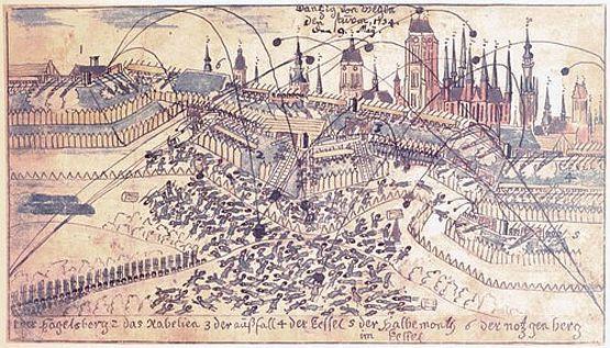 Bombardowanie Gdańska podczas oblężenia w 1734 r.