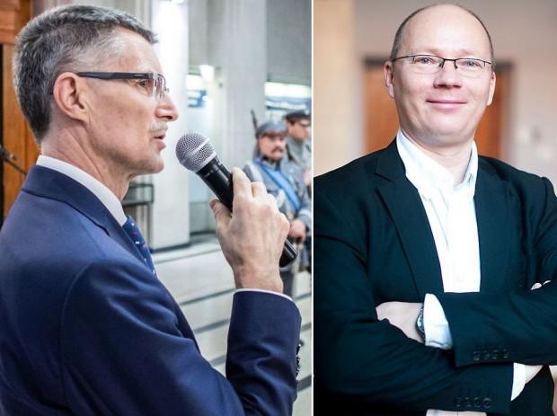 Kandydaci na rektora PG: prof. dr hab. inż. Janusz T. Cieśliński, prof. zw. PG (po lewej), prof. dr hab. inż. Krzysztof Wilde, prof. zw. PG.