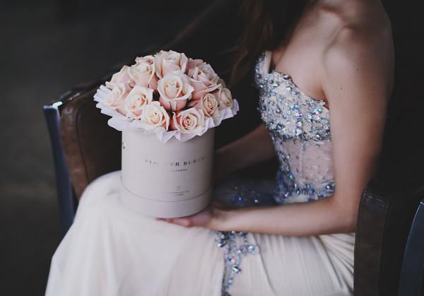 Kwiaty w pudełku, czyli ekskluzywna wersja klasycznego bukietu.