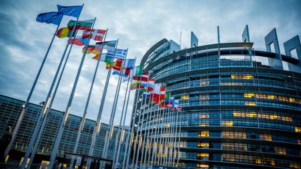 Siedziba parlamentu europejskiego w Strasburgu.