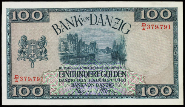 Guldeny gdańskie zostały wprowadzone do obiegu w 1923 roku.