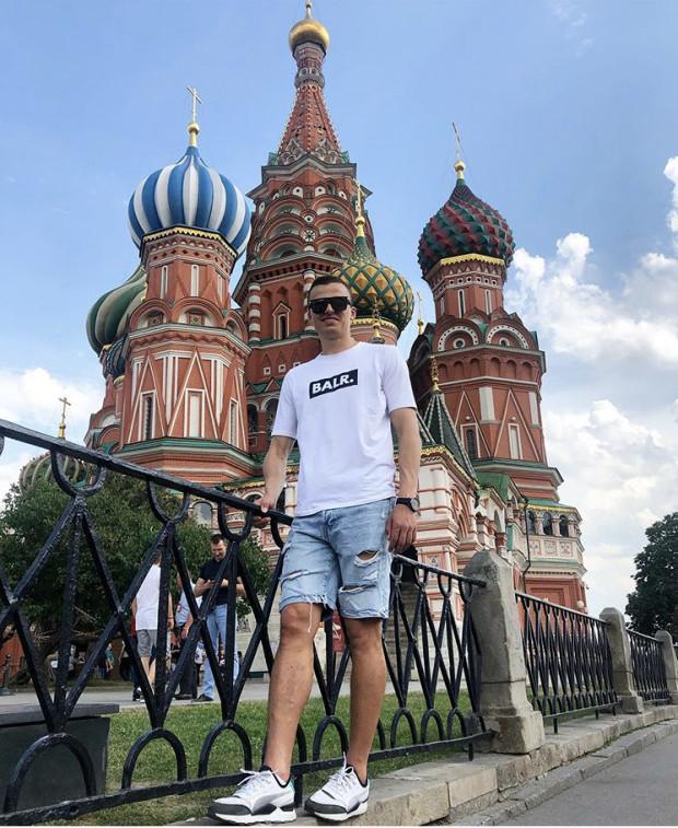 Patryk Lipski (Lechia Gdańsk) w Moskwie.