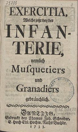 Regulamin wojsk gdańskich z 1733 roku.