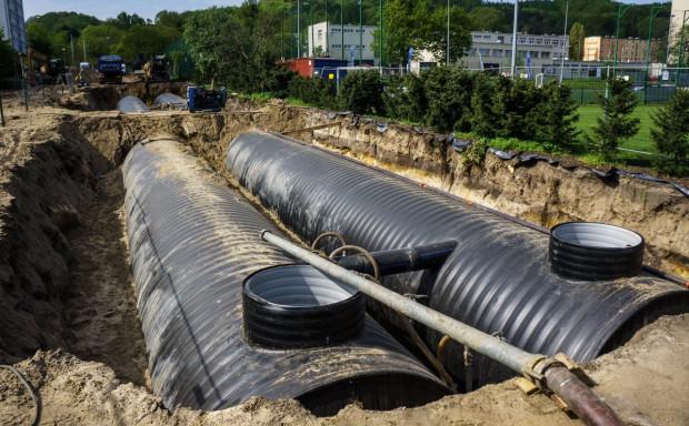 W ramach poprzedniego projektu powstała m.in. kanalizacja deszczowa przy ul. Opata-Hackiego.